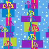 Pattern with gift boxes for Christmas Royalty Free Stock Photo
