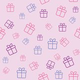 Pattern with gift boxes Stock Images