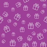 Pattern with gift boxes. Seamless funny pattern with gift boxes. Wrapping or background Royalty Free Stock Photography