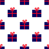 Pattern with gift boxes Stock Photography