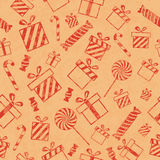 Pattern with gift boxes Royalty Free Stock Photography