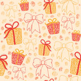 Pattern with gifts Stock Photography