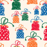 Pattern of the gifts bags Royalty Free Stock Photos