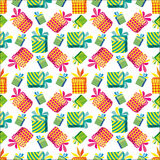 Pattern with gifts. Stock Photography