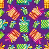 Pattern with gifts. Royalty Free Stock Photos