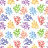 Pattern of gifts Stock Photos