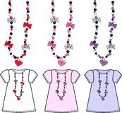 Pattern for girls top Stock Images