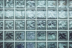 Pattern of glass block wall for background Royalty Free Stock Images