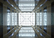 Pattern glass ceiling Stock Photos