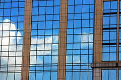 Pattern of glass. Line of glass on building Royalty Free Stock Photo