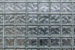 Pattern of glass texture block wall background stock images