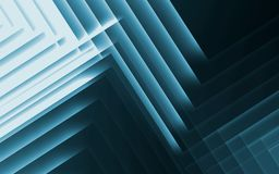 Pattern of glowing stripes. 3d illustration. Abstract blue green cg background, geometric pattern of glowing stripes. 3d illustration Royalty Free Stock Photo