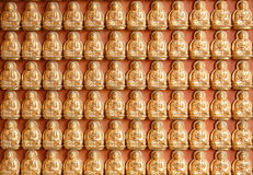 Pattern of gold chinese buddha Royalty Free Stock Photos