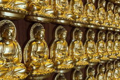 Pattern of gold chinese buddha Stock Image