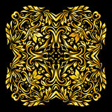 Pattern gold. Gold element similar a flowers on black background Stock Images