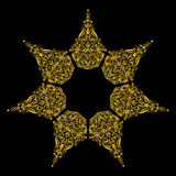 Pattern gold Stock Photography