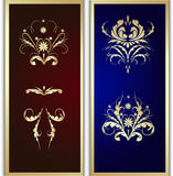 Pattern in a gold frame Royalty Free Stock Photography
