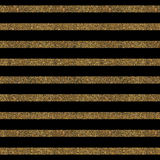 Pattern with gold glitter textured lines on black background. Royalty Free Stock Photography