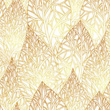 Pattern with gold leafs. Seamless pattern with gold leafs, autumn leaves background. Vector, EPS 8 Royalty Free Stock Images