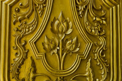 Pattern gold lotus thailand Royalty Free Stock Photos