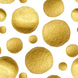 Pattern gold polka dot Stock Photography