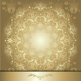 Pattern with gold ribbon Royalty Free Stock Photos