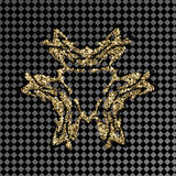 Pattern gold shiny logo on a transparent background. Gold jewelry for the jewelry design. vector illustration