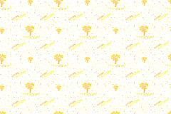 Pattern Golden autumn trees and autumn leaves. Royalty Free Stock Photography