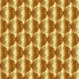 Pattern. Golden background with ornament, seamless pattern Stock Image