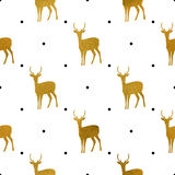 Pattern Of Golden Bears On White Royalty Free Stock Images