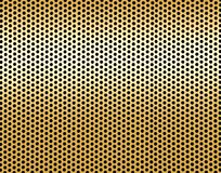 Pattern of golden metal Stock Image