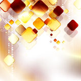 Pattern with golden squares Royalty Free Stock Photos