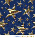 Pattern with golden stars Stock Image