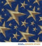 Pattern with golden stars vector illustration