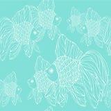 Pattern with goldfish Stock Photo