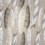 Pattern graphic bird feathers Royalty Free Stock Images