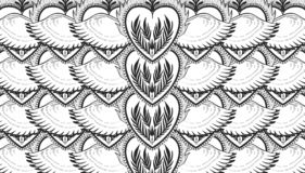 Pattern graphic illustration Beautiful holy heart with mystic and occult symbols. Esoteric boho style royalty free illustration
