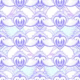 Pattern graphic illustration Beautiful holy heart with mystic and occult symbols. Esoteric boho style. Vector royalty free illustration