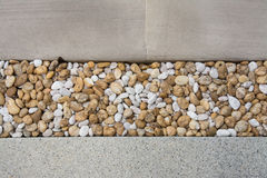 Pattern of gravels with Tiles Royalty Free Stock Photos