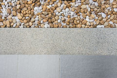 Pattern of gravels with Tiles Royalty Free Stock Images