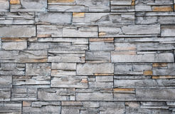 Pattern gray color of stone wall decorative. In Korea royalty free stock photo