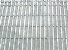 pattern of gray corrugated tile Stock Image