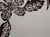 Pattern on the gray fabric Royalty Free Stock Photography