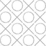 The pattern of gray grunge circles and crosses Royalty Free Stock Photography