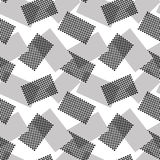 The pattern of gray and halftone rectangles Royalty Free Stock Images