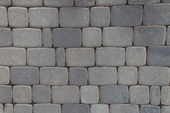 Pattern of gray sidewalk pavers.  royalty free stock photos