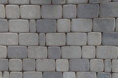 Pattern of gray sidewalk pavers Royalty Free Stock Photos