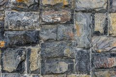 Pattern of gray slate wall , stone wall Royalty Free Stock Photography