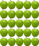 Pattern with green apple Royalty Free Stock Photography