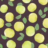 Pattern with green apples Royalty Free Stock Photo